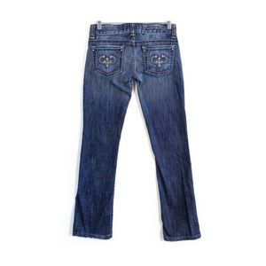 Guess Premium denim stretch embellished pockets XS